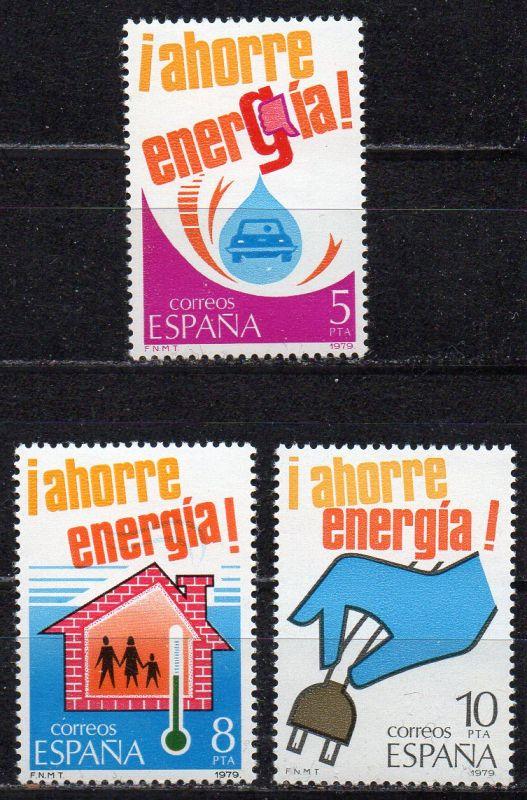 Spanien, Mi-Nr. 2400 - 2402 **, kompl., Energiesparen