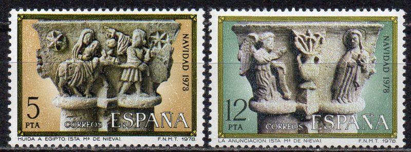 Spanien, Mi-Nr. 2383 - 2384 **, kompl., Weihnachten 1978