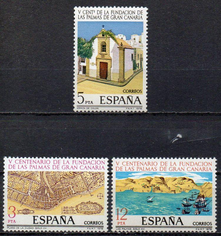 Spanien, Mi-Nr. 2369 - 2371 **, kompl., 500 Jahre Stadt Las Palmas de Gran Canaria