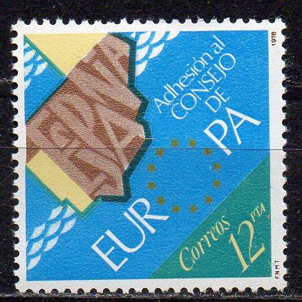 Spanien, Mi-Nr. 2368 **, Beitritt zum Europarat