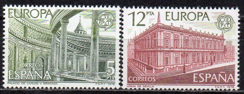 Spanien, Mi-Nr. 23663 - 2367 **, kompl., Europa CEPT - Baudenkmäler