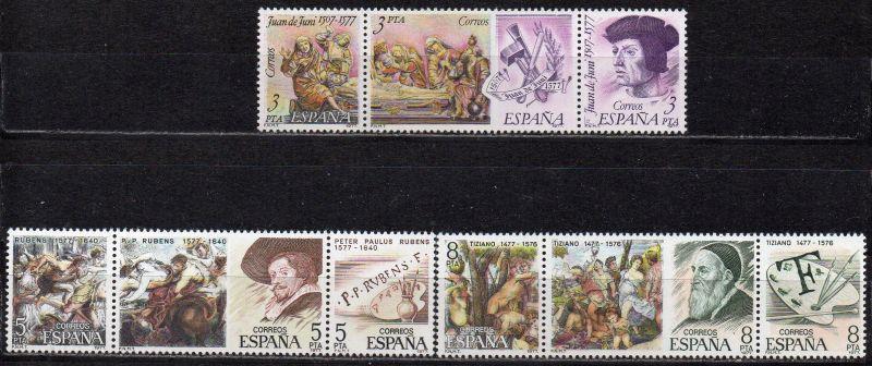 Spanien, Mi-Nr. 2352 - 2360 **, kompl., Bildhauer und Maler