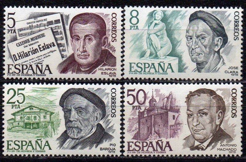 Spanien, Mi-Nr. 2348 - 2351 **, kompl., Künstler