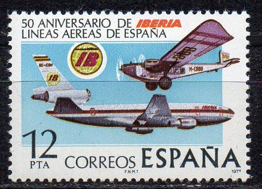 Spanien, Mi-Nr. 2340 **, 50 Jahre Fluggesellschaft IBERIA