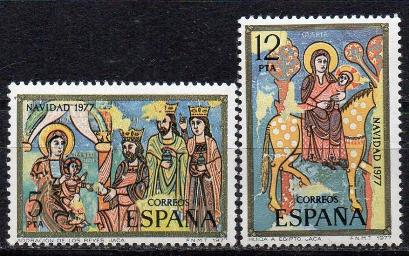 Spanien, Mi-Nr. 2338 - 2339 **, kompl., Weihnachten 1977