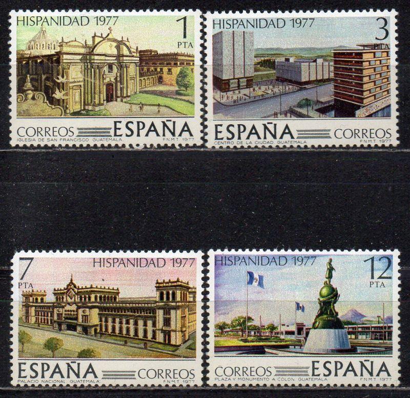 Spanien, Mi-Nr. 2331 - 2334 **, kompl., Spanisch-Amerikanische Geschichte: Guatemala