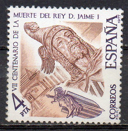 Spanien, Mi-Nr. 2283 **, 700. Todestag von König Jakob I.