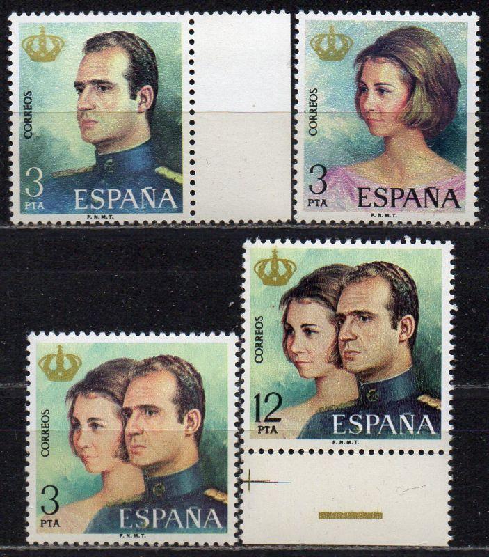 Spanien, Mi-Nr. 2195 - 2198 **, kompl., Proklamation von Juan Carlos I. zum König