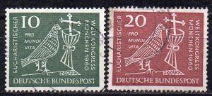 BRD, Mi-Nr. 330 - 331 gest., kompl., Eucharistischer Weltkongreß München