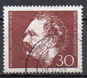 BRD, Mi-Nr. 528 gest., 150. Geburtstag von Werner von Siemens