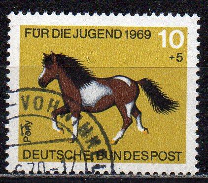 BRD, Mi-Nr. 578 gest., Jugend 1969, Pferde