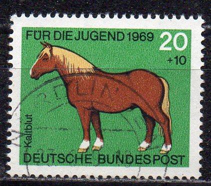 BRD, Mi-Nr. 579 gest., Jugend 1969, Pferde
