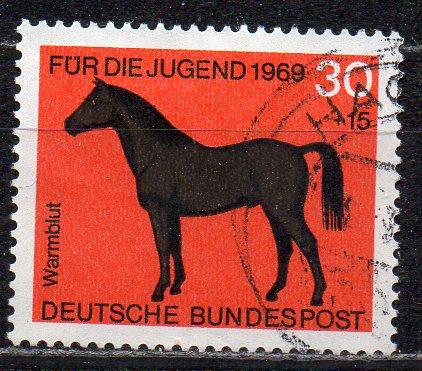 BRD, Mi-Nr. 580 gest., Jugend 1969, Pferde