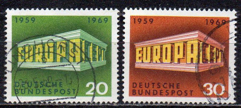 BRD, Mi-Nr. 583 - 584 gest., kompl., Europa CEPT 1969