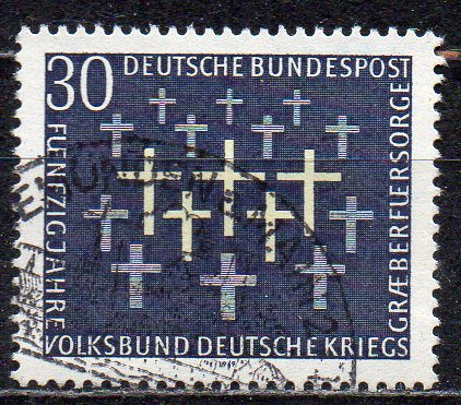 BRD, Mi-Nr. 586 gest., 50 Jahre Volksbund Deutsche Kriegsgräberfürsorge VDK