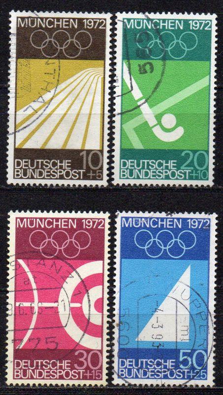 BRD, Mi-Nr. 587 - 590 gest., kompl., Olympische Sommerspiele München 1972