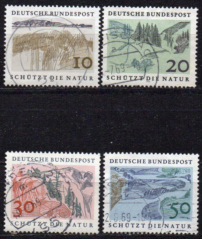 BRD, Mi-Nr. 591 - 594 gest., kompl., Europäisches Naturschutzjahr 1970