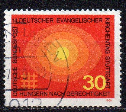 BRD, Mi-Nr. 595 gest., Evangelischer Kirchentag Stuttgart
