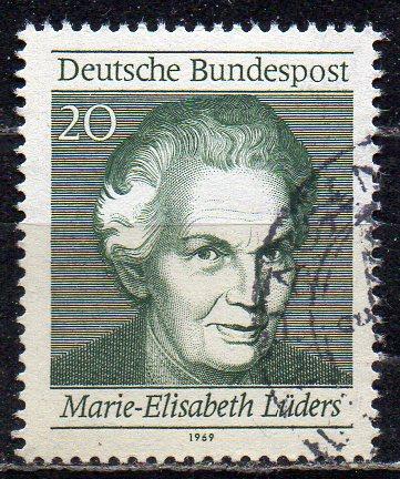 BRD, Mi-Nr. 597 gest., aus Block 5, 50 Jahre Frauenwahlrecht in Deutschland