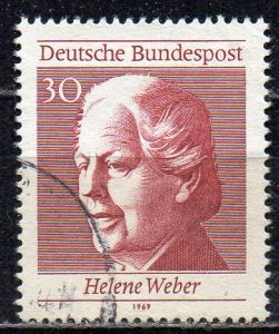 BRD, Mi-Nr. 598 gest., aus Block 5, 50 Jahre Frauenwahlrecht in Deutschland