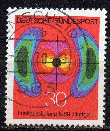 BRD, Mi-Nr. 599 gest., nationale Funkausstellung Stuttgart