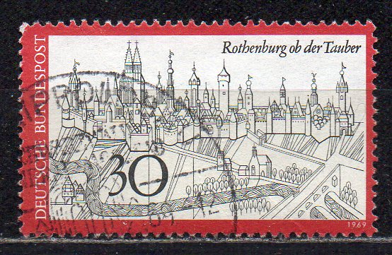 BRD, Mi-Nr. 603 gest., Fremdenverkehr: Rothenburg ob der Tauber