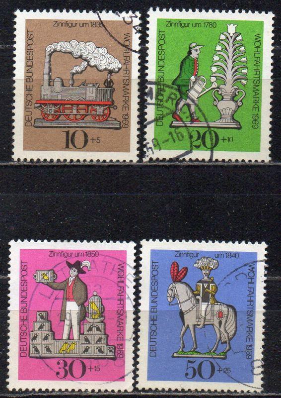 BRD, Mi-Nr. 604 - 607 gest., kompl., Wohlfahrt 1969, Zinnfiguren