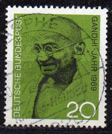 BRD, Mi-Nr. 608 gest., Mahatma Gandhi