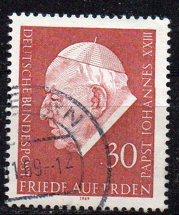 BRD, Mi-Nr. 609 gest., Pabst Johannes XXIII.