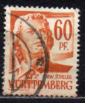 Französische Zone - Württemberg, Mi-Nr. 10 gest.