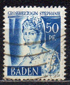 Französische Zone - Baden, Mi-Nr. 24 gest.,