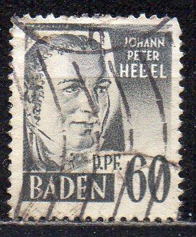 Französische Zone - Baden, Mi-Nr. 25 gest.,