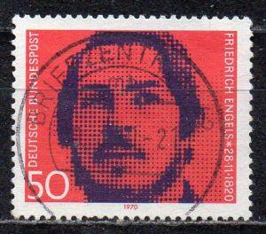 BRD, Mi-Nr. 657 gest., 150. Geburtstag von Friedrich Engels