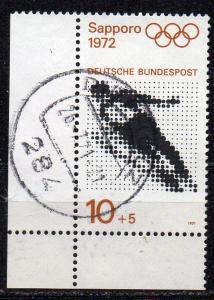BRD, Mi-Nr. 680 gest., Eckrand, Olympische Spiele 1972