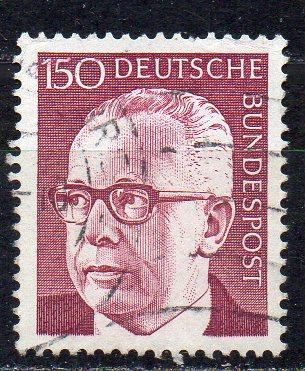 BRD, Mi-Nr. 730 gest., Bundespräsident Gustav Heinemann