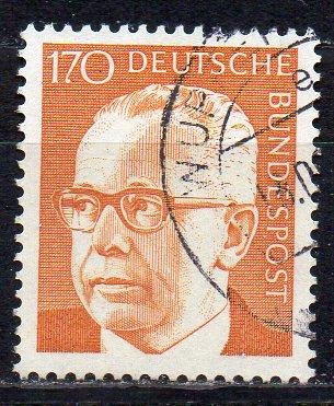 BRD, Mi-Nr. 731 gest., Bundespräsident Gustav Heinemann