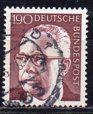 BRD, Mi-Nr. 732 gest., Bundespräsident Gustav Heinemann