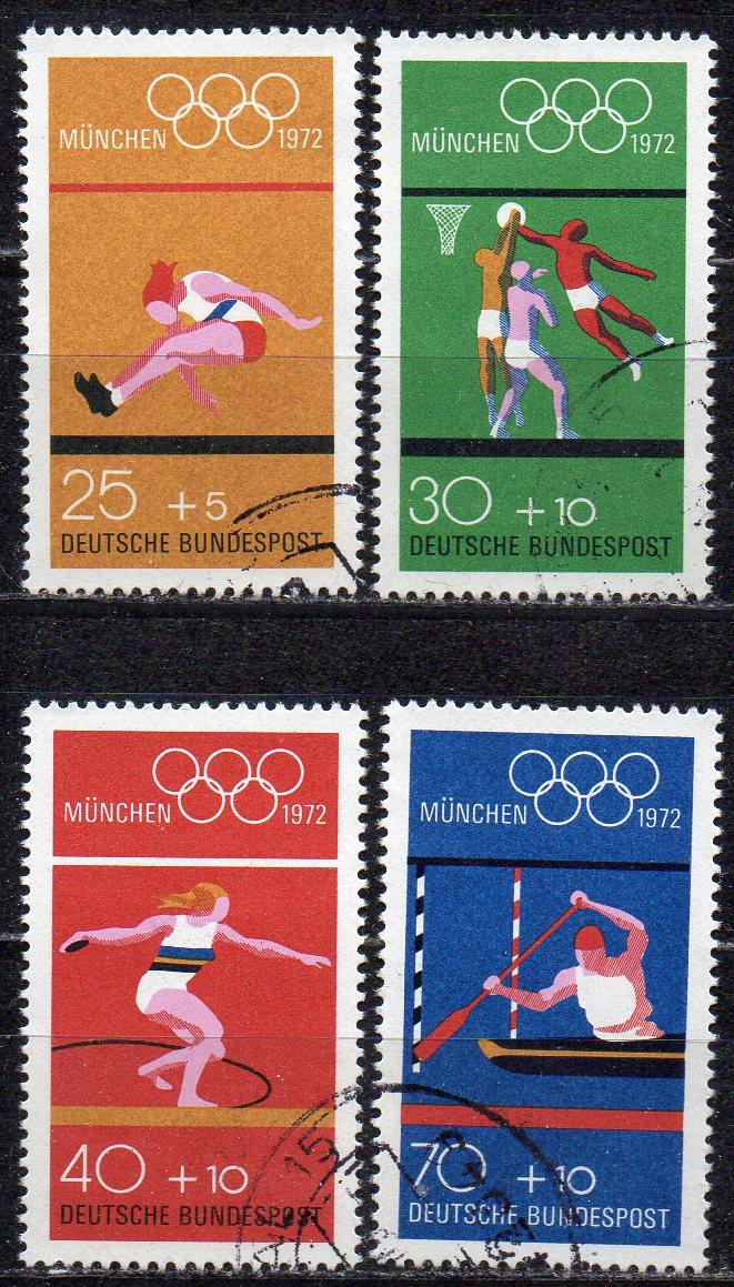 BRD, Mi-Nr. 724 - 737 gest., kompl., Olympische Sommerspiele 1972 München
