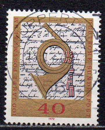 BRD, Mi-Nr. 739 gest., 100 Jahre Postmuseum