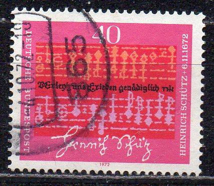 BRD, Mi-Nr. 741 gest., 300. Todestag von Heinrich Schütz