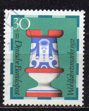 BRD, Mi-Nr. 743 gest., Wohlfahrt 1972 - Schachfiguren
