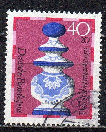 BRD, Mi-Nr. 744 gest., Wohlfahrt 1972 - Schachfiguren