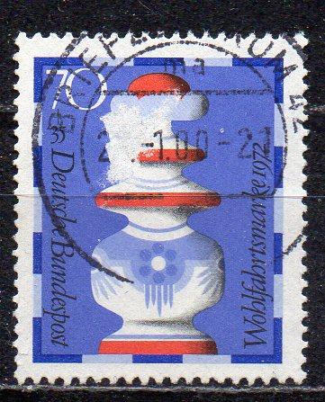 BRD, Mi-Nr. 745 gest., Wohlfahrt 1972 - Schachfiguren