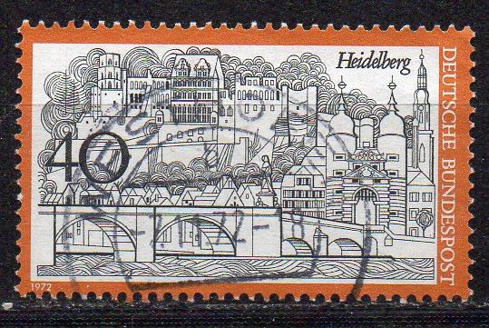 BRD, Mi-Nr. 747 gest., Fremdenverkehr: Heidelberg