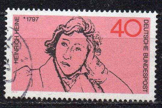 BRD, Mi-Nr. 750 gest., Heinrich Heine