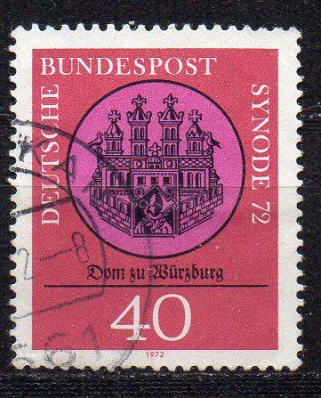 BRD, Mi-Nr. 752 gest., Synode der kath. Bistümer, Würzburg