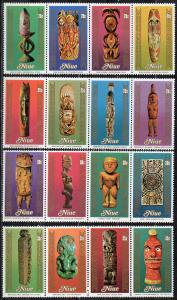Niue, Mi-Nr. 304 - 319 **, kompl., folkloristische Kunst