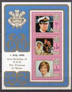 Niue, Block Mi-Nr. 56 **, Prinz Charles u. Lady Di