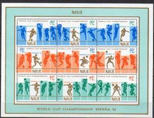 Niue, Block Mi-Nr. 49 **, Fußball-Weltmeisterschaft 1982 Spanien