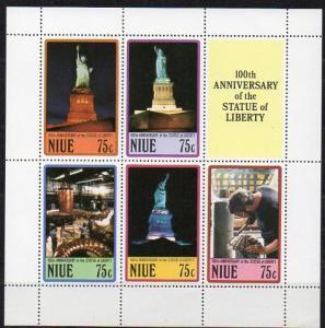 Niue, Block Mi-Nr. 109 **, 100 Jahre Freiheitsstatue New York